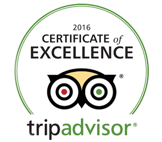 Certificate of Excellence 2016 Tripadvisor
